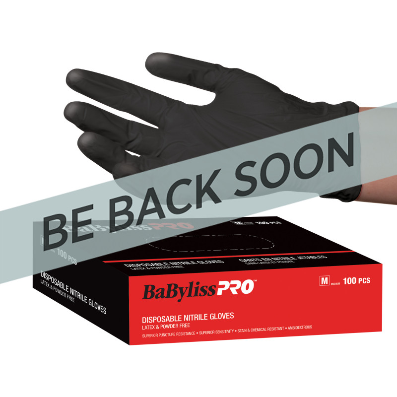 BESNITLGUCC Black Nitrile Gloves Large (100)