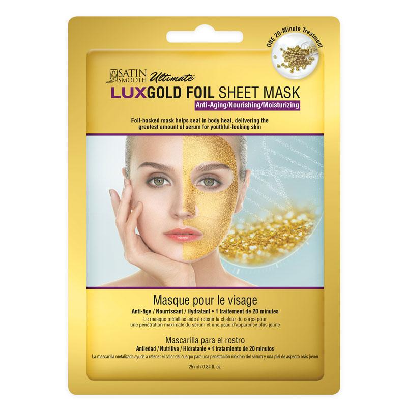 Satin Smooth SSKGFM LuxGold Facial Sheet