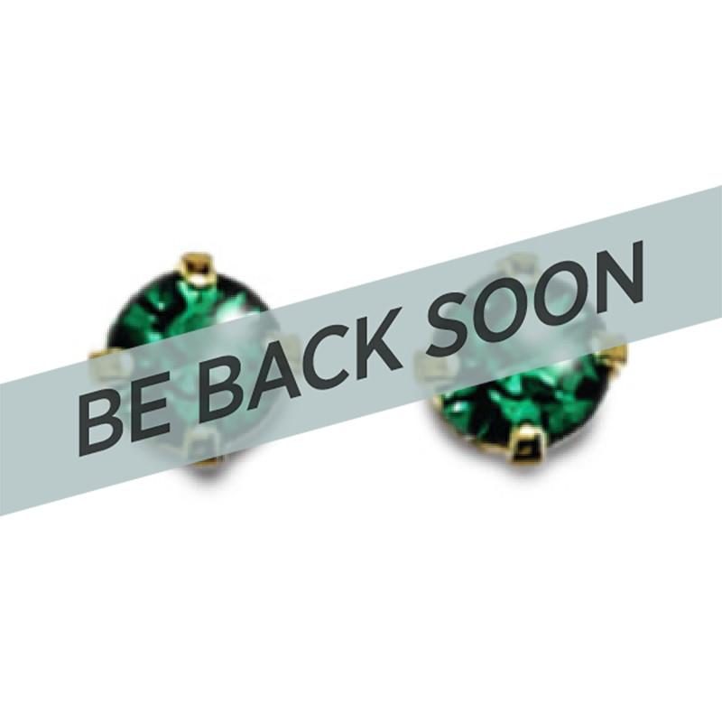 Inverness 85C 24K GP 3mm Emerald Tiffany