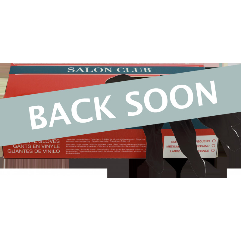 Salon Club SCVGBLK-M Black Vinyl Gloves Medium