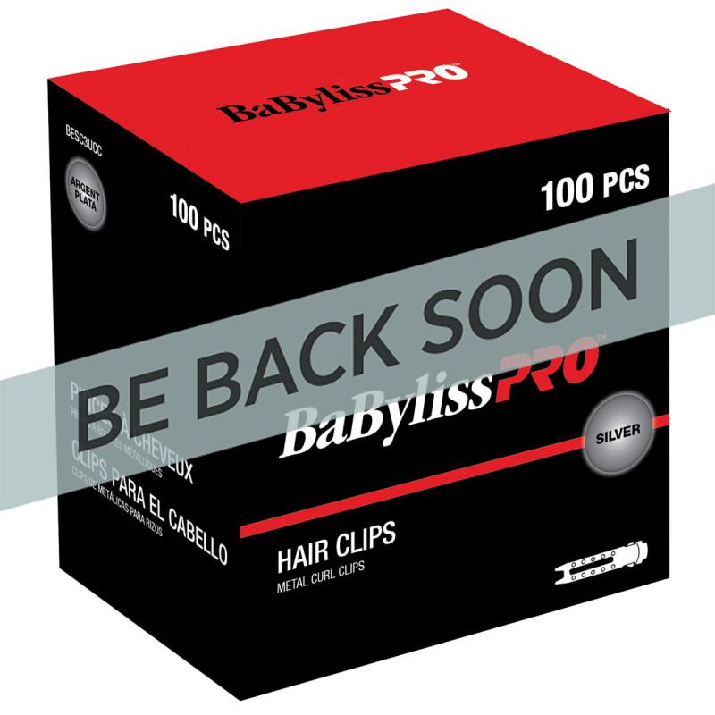 BabylissPro BESC3UCC Metal Curl Clips (100)