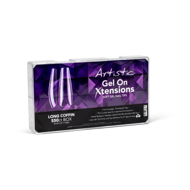 Artistic Gel On Xtensions Long Coffin (5