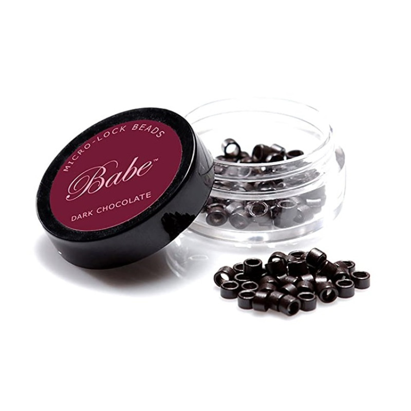 Babe Microlock Beads Dark Chocolate (100