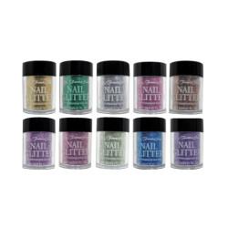 Fantasea FSC-55 Nail Art Glitter Set 10pc