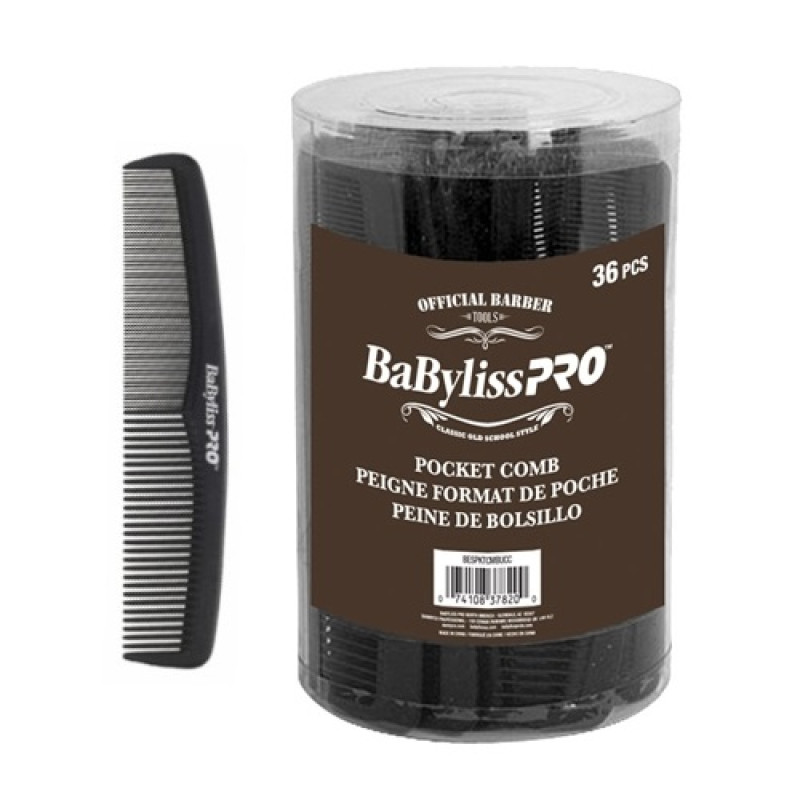 BabylissPro BESPKTCMBUCC Pocket Comb 36/