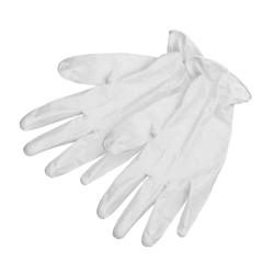 BESTOUCPFSUC White Vinyl Gloves Small (100)
