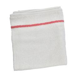 BESTOWEL1UCC White w/Cherry Stripe Towels (12)