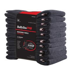 BESTOWELMUCC Black Microfiber Towels (10)