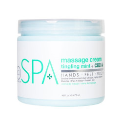 ^BCL SPA56116 Mint + CBD Massage Cream 16oz