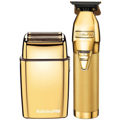 BabylissPro FXHOLPK2G Gold Trimmer Shaver Duo LE