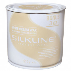 Silkline SL18CREMC White Cream Wax 18oz