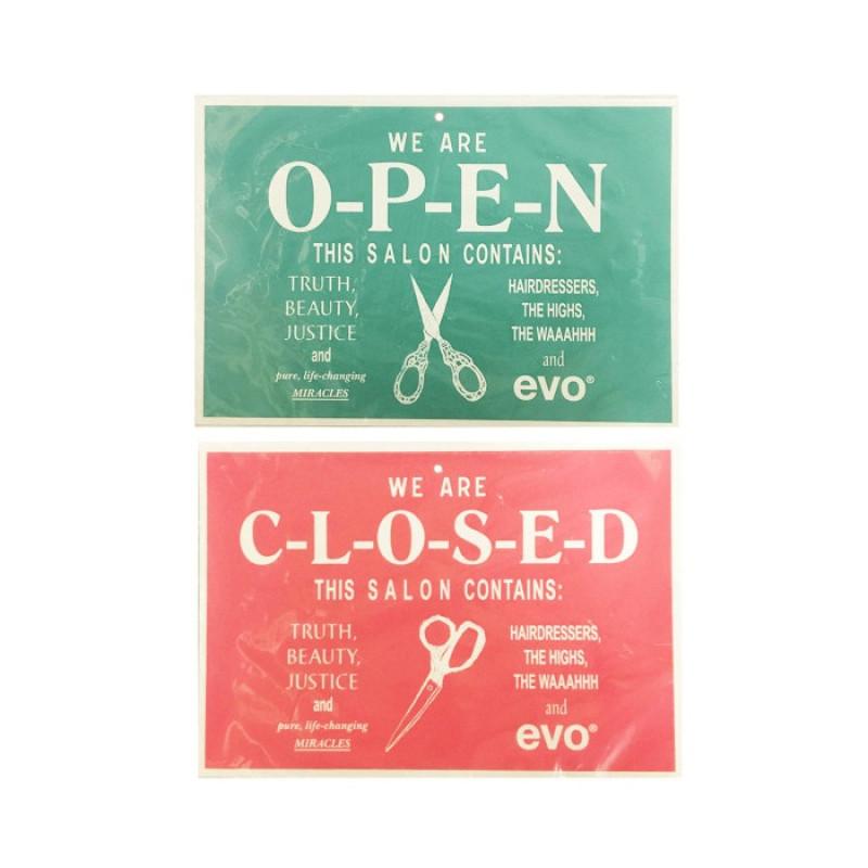 Evo Open/Closed Sign..