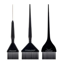 Framar HB-FP-BLK Family Pack Black Brush Set (3)