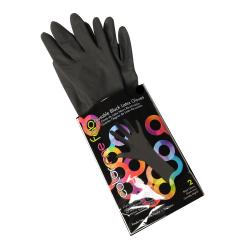 Framar RLG-65-2PC Black Latex Gloves 6.5 XS *
