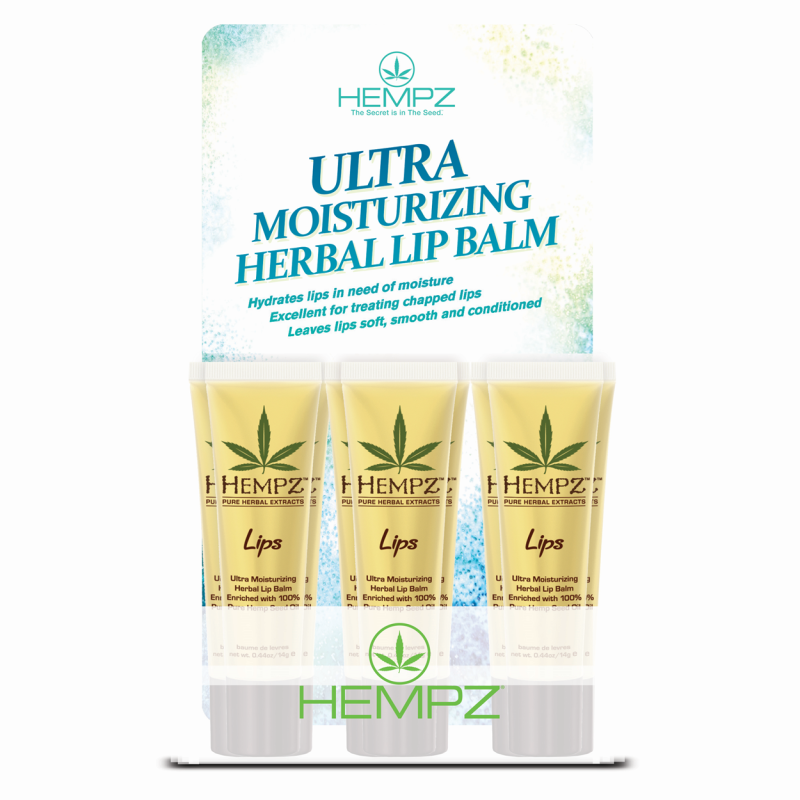 Hempz Herbal Lip Balm 12pc Display