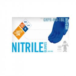 Safety Zone Blue Nitrile Gloves Medium (100)