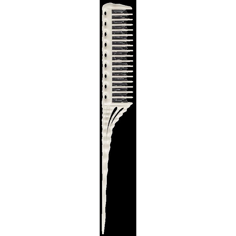 YS Park YS-150W Carbon Tail Comb White