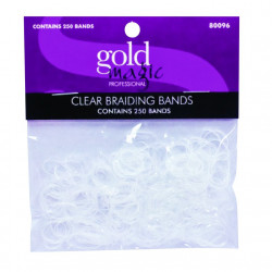 Gold Magic Mini Clear Elastic Bands (250) 80096