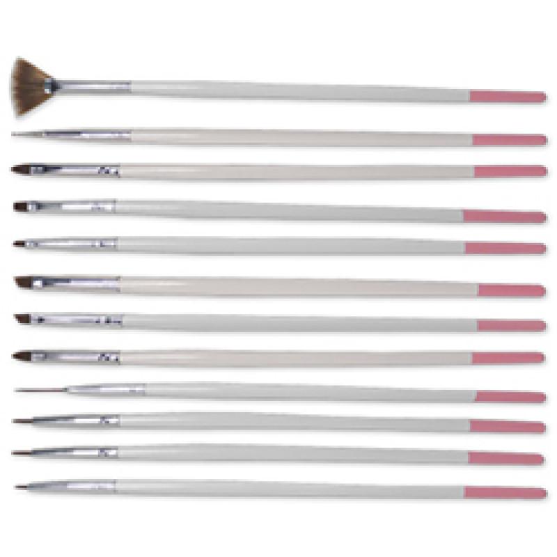 DL Pro DL-C341 Nail Art 12pc Brush Set