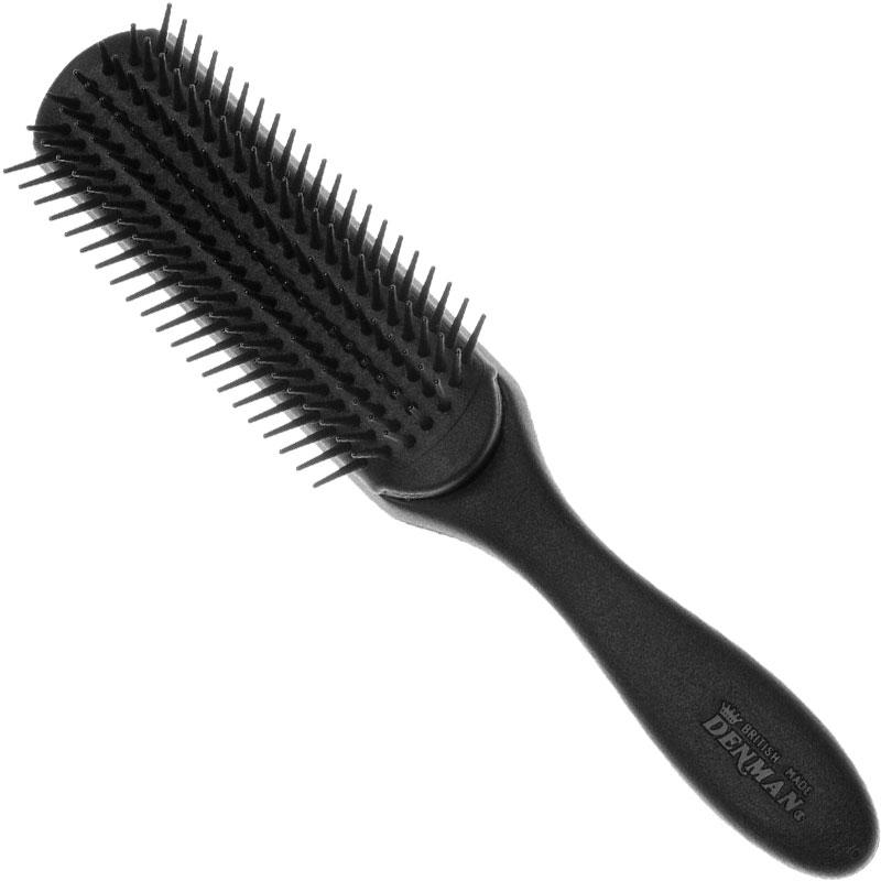 Denman DE-3MC Classic 7-Row Brush Black