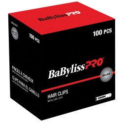 BabylissPro BESC3UCC Metal Curl Clips (100)