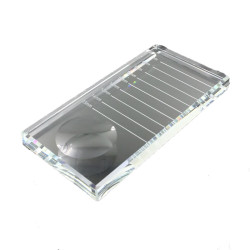 Micha Rectangular Crystal Plate