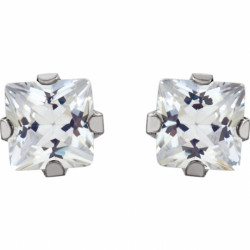 Inverness 112C SS 3mm Square CZ