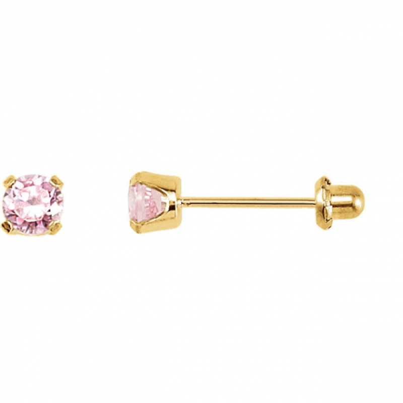 Inverness 30C 24K GP 5mm Pink Ice CZ