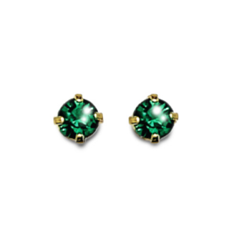 Inverness 85C 24K GP 3mm Emerald Tiffany