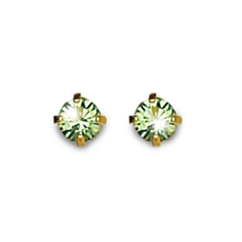 Inverness 88C 24K GP 3mm Peridot Tiffany