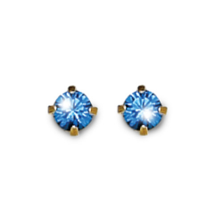 Inverness 89C 24K GP 3mm Sapphire Tiffany Sept