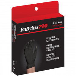 BES33704LGUCC Black Latex Gloves Large (4)