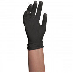 BES33704SMUCC Black Latex Gloves Small (4)