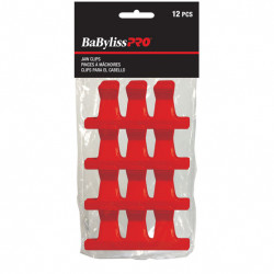 BES367UCC Plastic Jaw Clips Red (12)