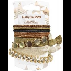 BESELAGOC Gold Assorted Hair Elastics (8) LE