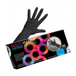 Framar GLV-MM-MED Black Nitrile Gloves Med (100)