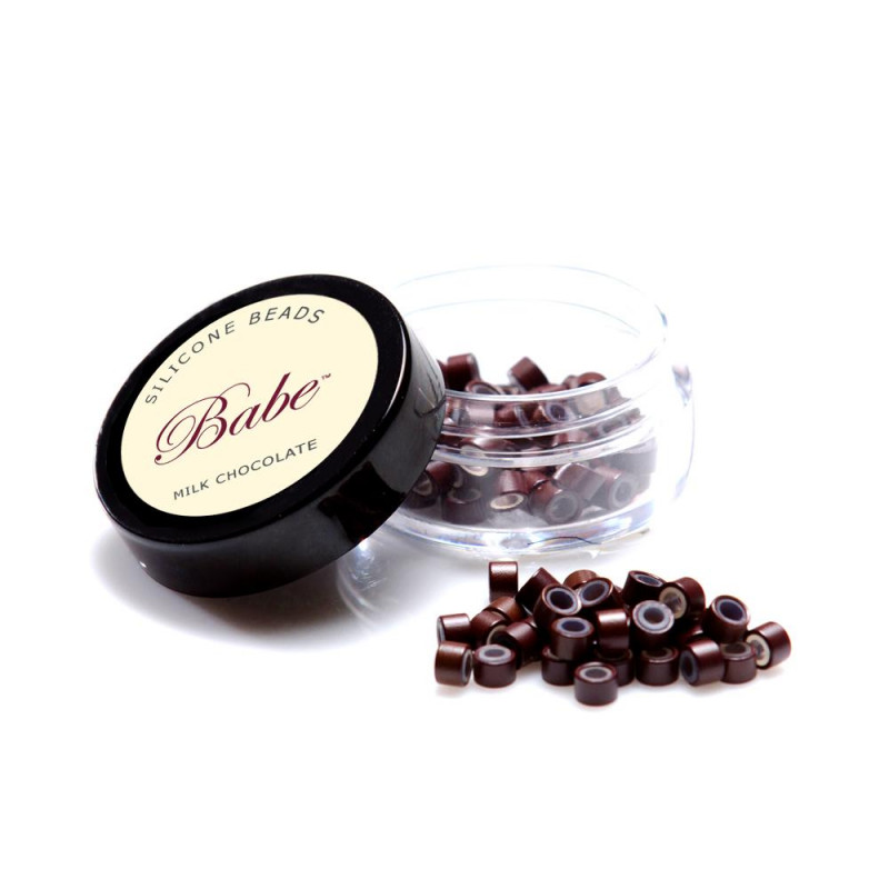 Babe Silicone Beads Milk Chocolate (100)