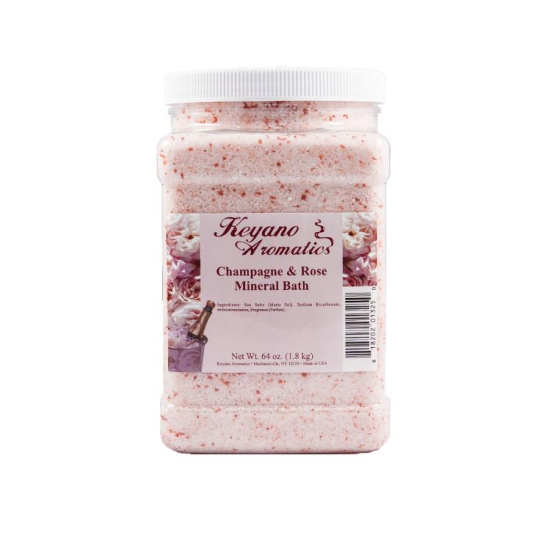 Keyano Champagne Rose Mineral Bath 64oz