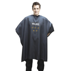 Wahl 5 Star Pinstripe Cape Black/Gold 56745